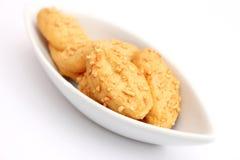 Galletas con queso Imagenes de archivo