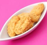 Galletas con queso Foto de archivo