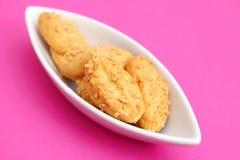 Galletas con queso Foto de archivo libre de regalías