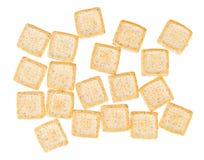Galletas cuadradas simples aisladas Foto de archivo libre de regalías