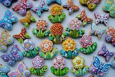 Galletas de azúcar adornadas Imágenes de archivo libres de regalías