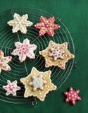 Galletas de azúcar de la Navidad Fotos de archivo libres de regalías