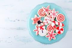 Galletas de azúcar de la Navidad Fotos de archivo