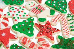 Galletas de azúcar de la Navidad Imagenes de archivo
