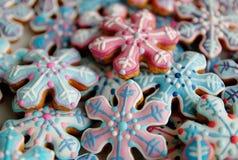 Galletas de azúcar de la Navidad Imagen de archivo