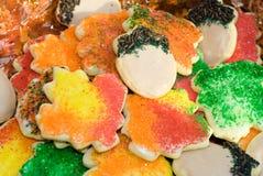 Galletas de azúcar del otoño Foto de archivo libre de regalías