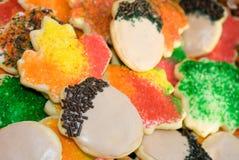Galletas de azúcar del otoño Imagen de archivo