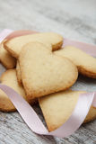 Galletas de azúcar en forma de corazón Fotografía de archivo
