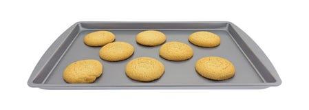 Galletas de azúcar en un molde para el horno Imagenes de archivo