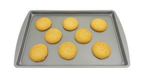 Galletas de azúcar en un molde para el horno Fotografía de archivo libre de regalías