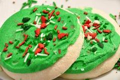Galletas de azúcar heladas Fotos de archivo libres de regalías