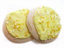 Galletas de azúcar heladas limón Fotografía de archivo libre de regalías