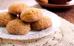 Galletas de azúcar marrón picantes suaves Fotografía de archivo libre de regalías