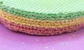 Galletas de Colourfull Fondo abstracto Textured Cierre para arriba Fotos de archivo libres de regalías
