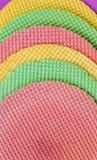 Galletas de Colourfull Fondo abstracto Textured Cierre para arriba Endecha plana Fotos de archivo libres de regalías
