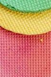 Galletas de Colourfull Fondo abstracto Textured Cierre para arriba Endecha plana Fotografía de archivo
