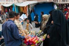 Galletas de compra en Yemen Imagenes de archivo
