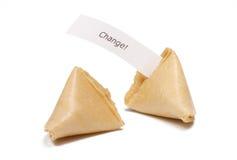 Galletas de fortuna con el mensaje Imagen de archivo