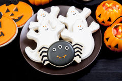Galletas de Halloween imagenes de archivo