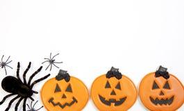 Galletas de Halloween fotos de archivo