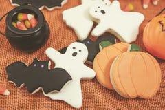 Galletas de Halloween entonadas Fotografía de archivo libre de regalías