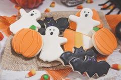 Galletas de Halloween entonadas Imágenes de archivo libres de regalías