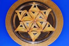 Galletas de Hamantash para el festival judío de Purim Imagen de archivo