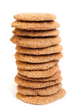 Galletas de harina de avena del cereal Fotos de archivo libres de regalías