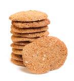 Galletas de harina de avena del cereal Imagen de archivo libre de regalías