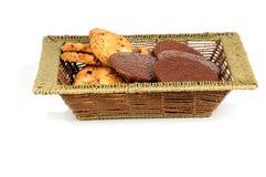 Galletas de harina de avena y obleas del chocolate Fotografía de archivo