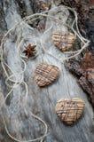 Galletas de la avena con el chocolate Foto de archivo