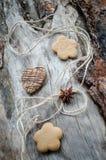 Galletas de la avena con el chocolate Imagenes de archivo
