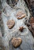 Galletas de la avena con el chocolate Imágenes de archivo libres de regalías