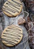 Galletas de la avena con el chocolate Foto de archivo libre de regalías