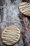 Galletas de la avena con el chocolate Fotografía de archivo
