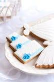 Galletas de la boda Fotografía de archivo libre de regalías