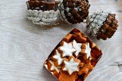 Galletas de la estrella de la Navidad Imagen de archivo libre de regalías
