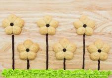 Galletas de la flor fotografía de archivo libre de regalías