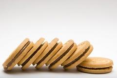 Galletas de la galleta del chocolate fotos de archivo