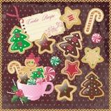 Galletas de la Navidad Fotografía de archivo