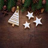 Galletas de la Navidad Imágenes de archivo libres de regalías
