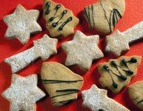 Galletas de la Navidad Imagen de archivo libre de regalías