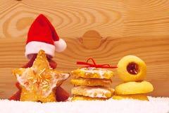Galletas de la Navidad Fotografía de archivo libre de regalías