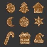 Galletas de la Navidad Imagenes de archivo