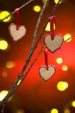 Galletas de la Navidad como decoración del árbol Imagen de archivo libre de regalías