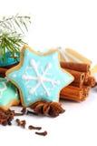 Galletas de la Navidad con cinamomo Foto de archivo