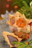 Galletas de la Navidad con las ventanas del caramelo Imagen de archivo libre de regalías