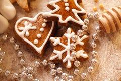 Galletas de la Navidad de la hornada Fotografía de archivo libre de regalías