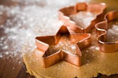 Galletas de la Navidad de la hornada Foto de archivo