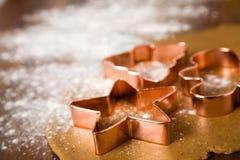 Galletas de la Navidad de la hornada Fotografía de archivo